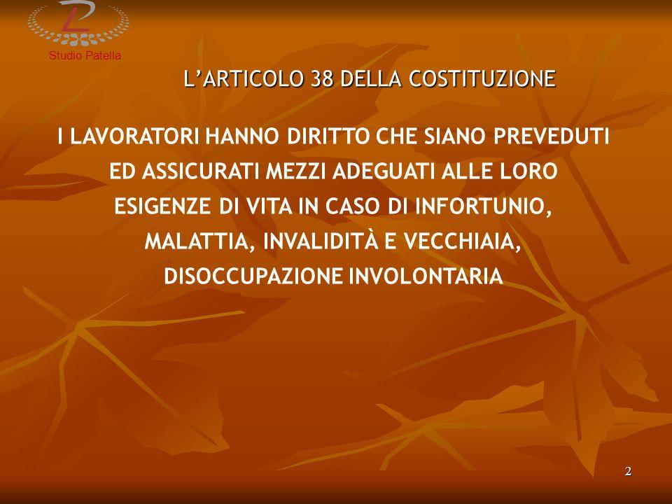 L'ARTICOLO 38 DELLA COSTITUZIONE