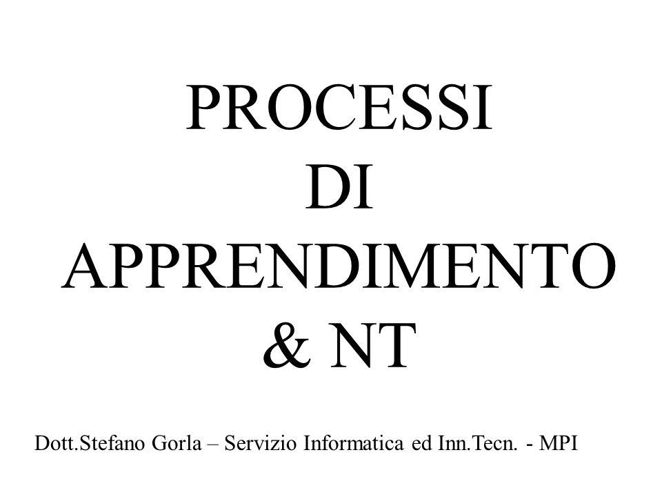 PROCESSI DI APPRENDIMENTO & NT