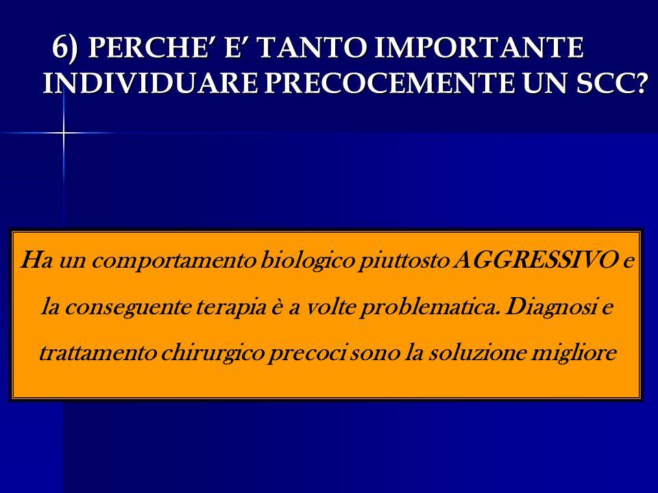 6) PERCHE' E' TANTO IMPORTANTE INDIVIDUARE PRECOCEMENTE UN SCC