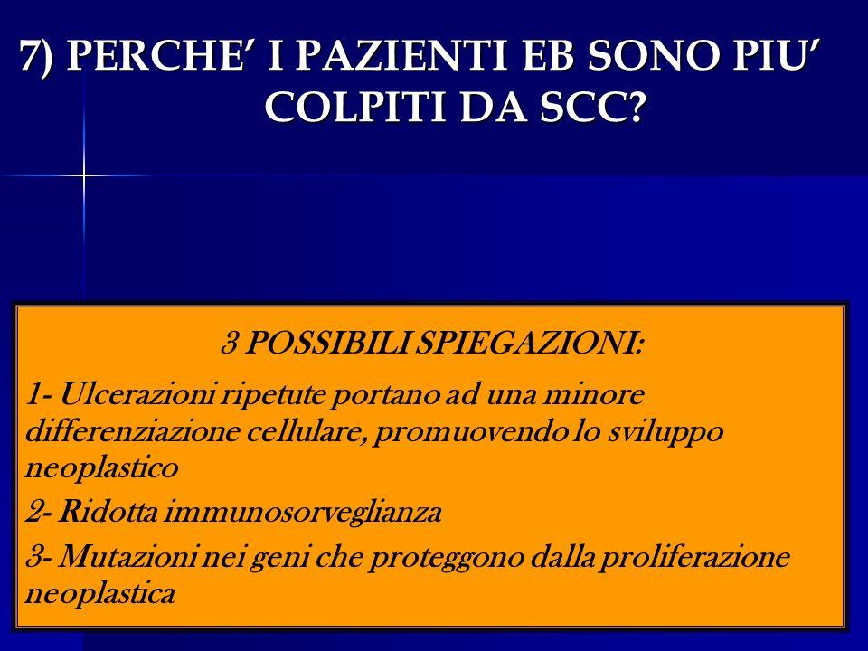 7) PERCHE' I PAZIENTI EB SONO PIU' COLPITI DA SCC