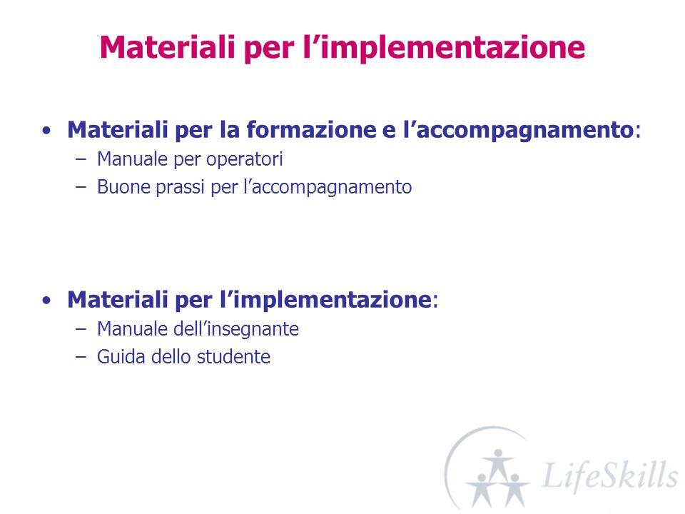 Materiali per l'implementazione