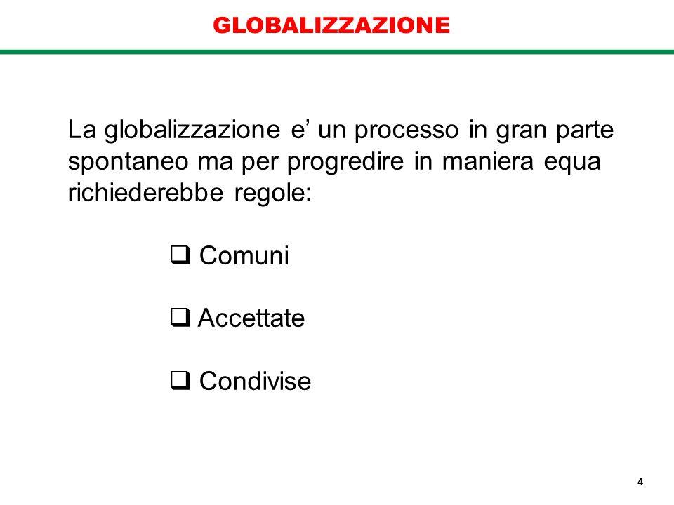 La globalizzazione e' un processo in gran parte