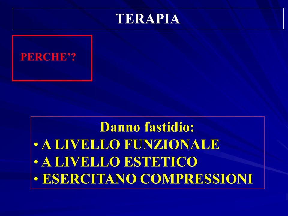TERAPIA Danno fastidio: