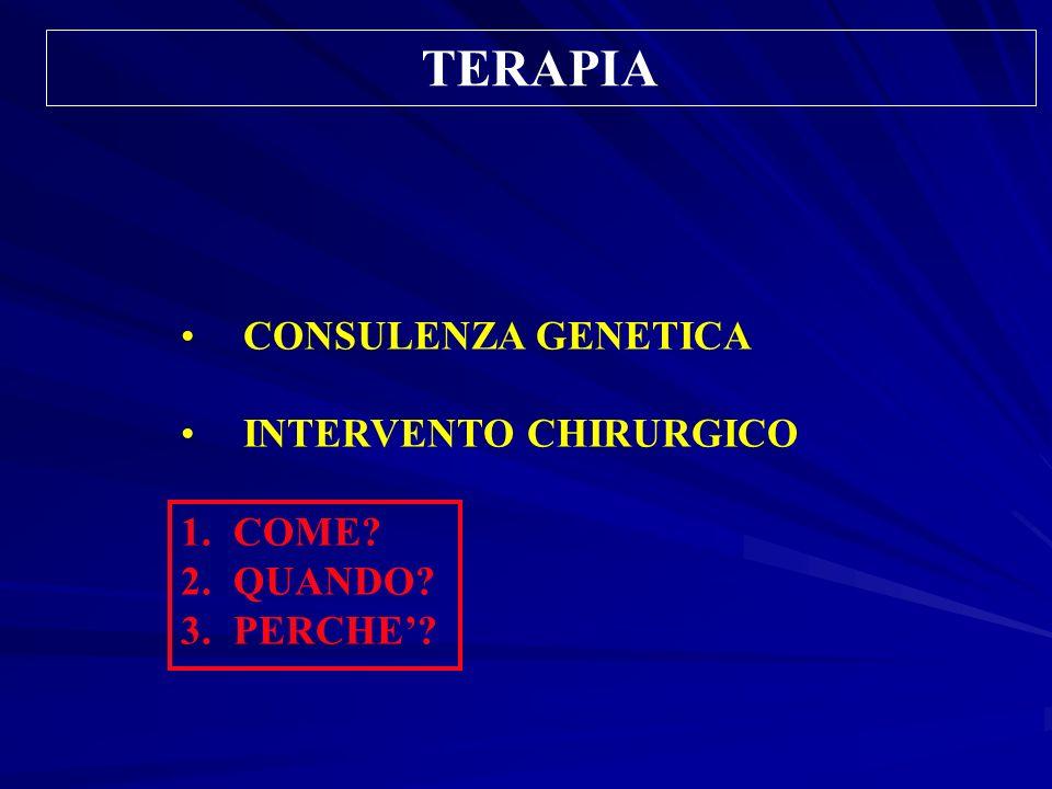 TERAPIA CONSULENZA GENETICA INTERVENTO CHIRURGICO COME QUANDO