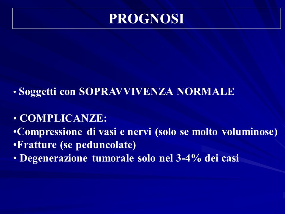 PROGNOSI COMPLICANZE: