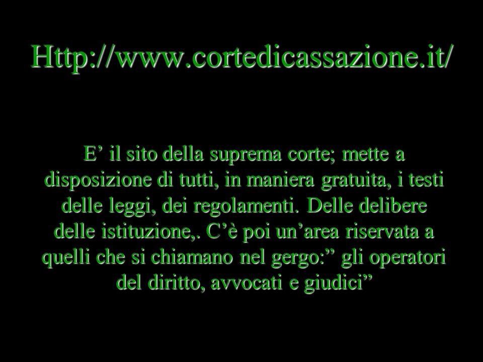 Http://www.cortedicassazione.it/