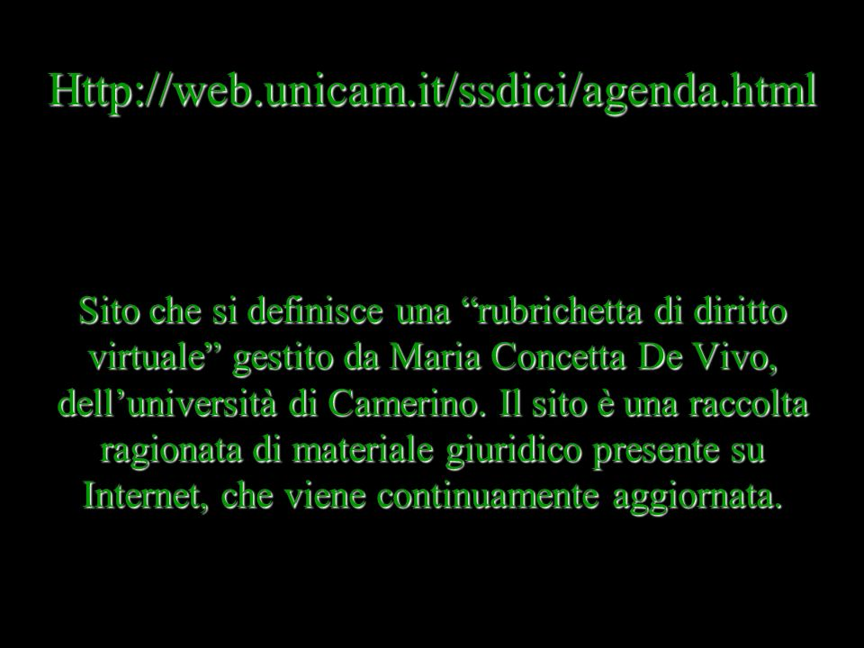Http://web.unicam.it/ssdici/agenda.html