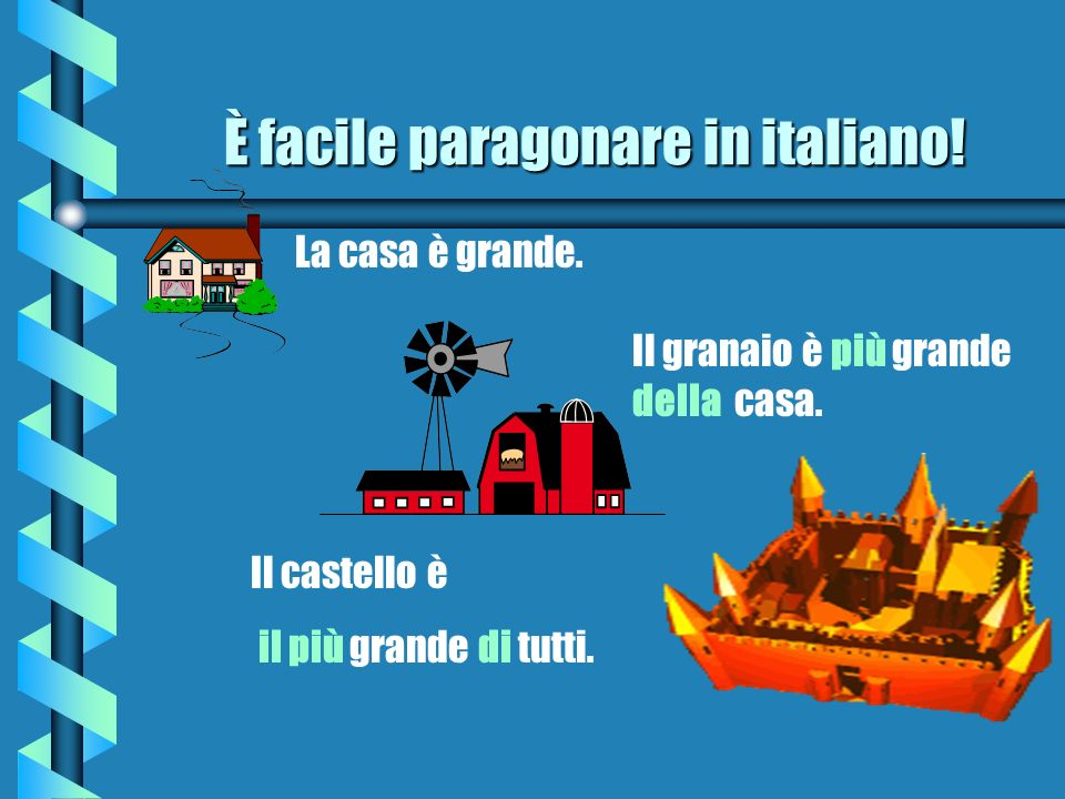 È facile paragonare in italiano!