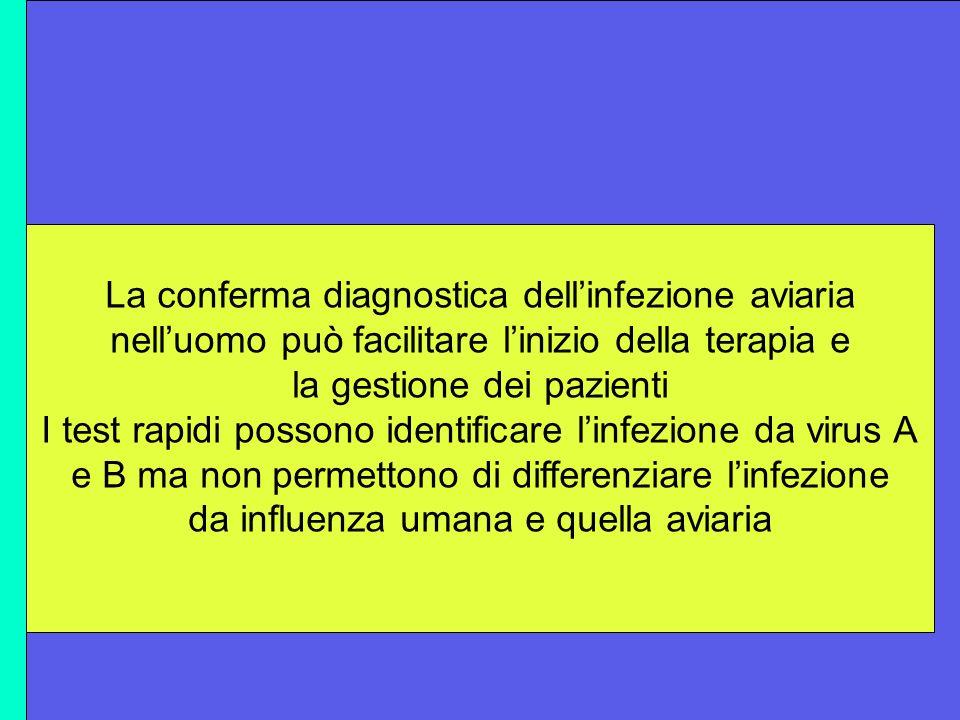 Metodiche diagnostiche rapide nell'accertamento dell'infuenza aviaria