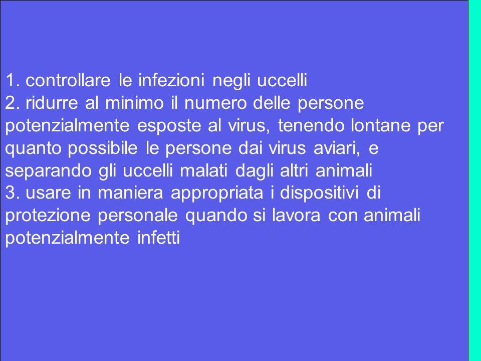 1. controllare le infezioni negli uccelli