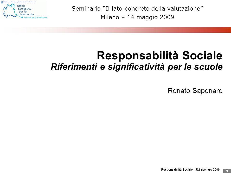 Seminario Il lato concreto della valutazione Milano – 14 maggio 2009