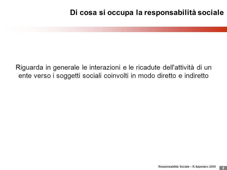 Di cosa si occupa la responsabilità sociale