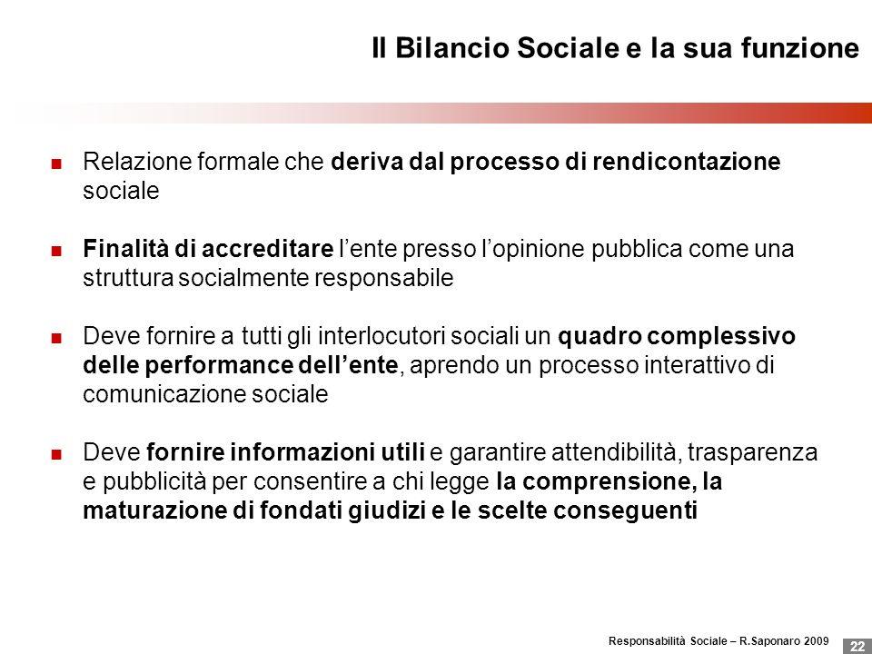 Il Bilancio Sociale e la sua funzione