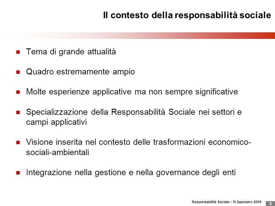 Il contesto della responsabilità sociale