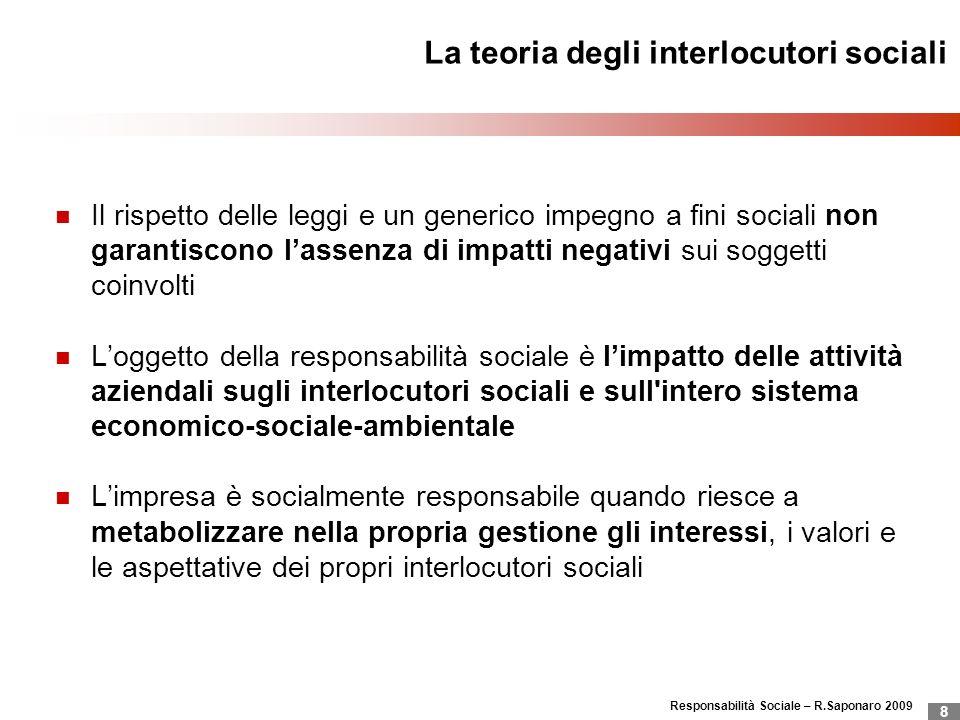 La teoria degli interlocutori sociali