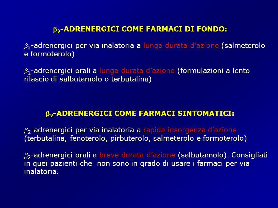 b2-ADRENERGICI COME FARMACI DI FONDO: