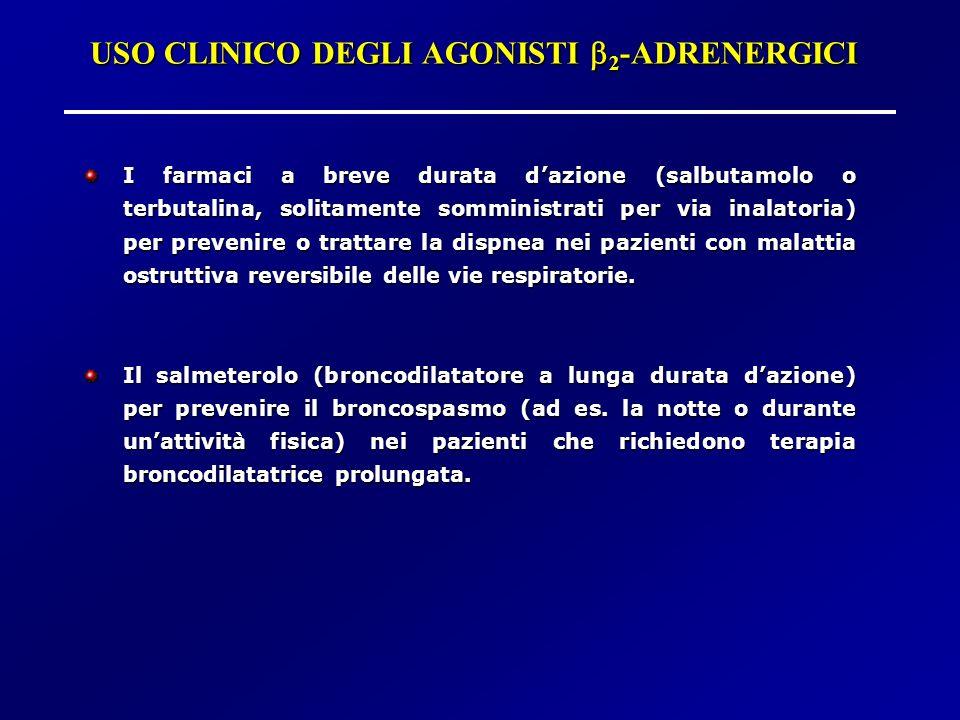 USO CLINICO DEGLI AGONISTI b2-ADRENERGICI