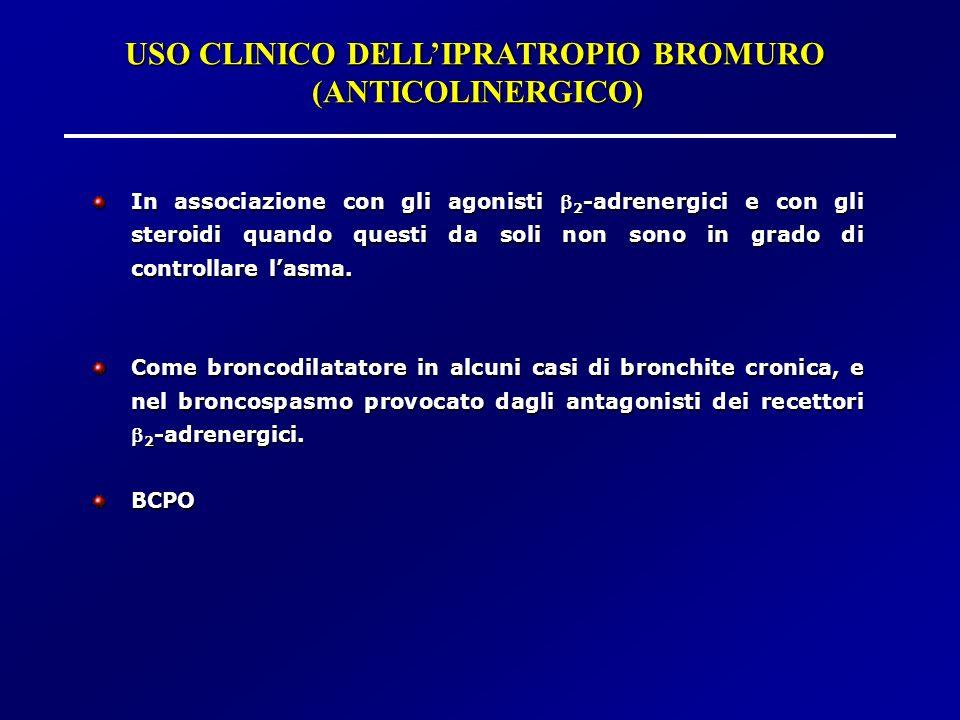 USO CLINICO DELL'IPRATROPIO BROMURO