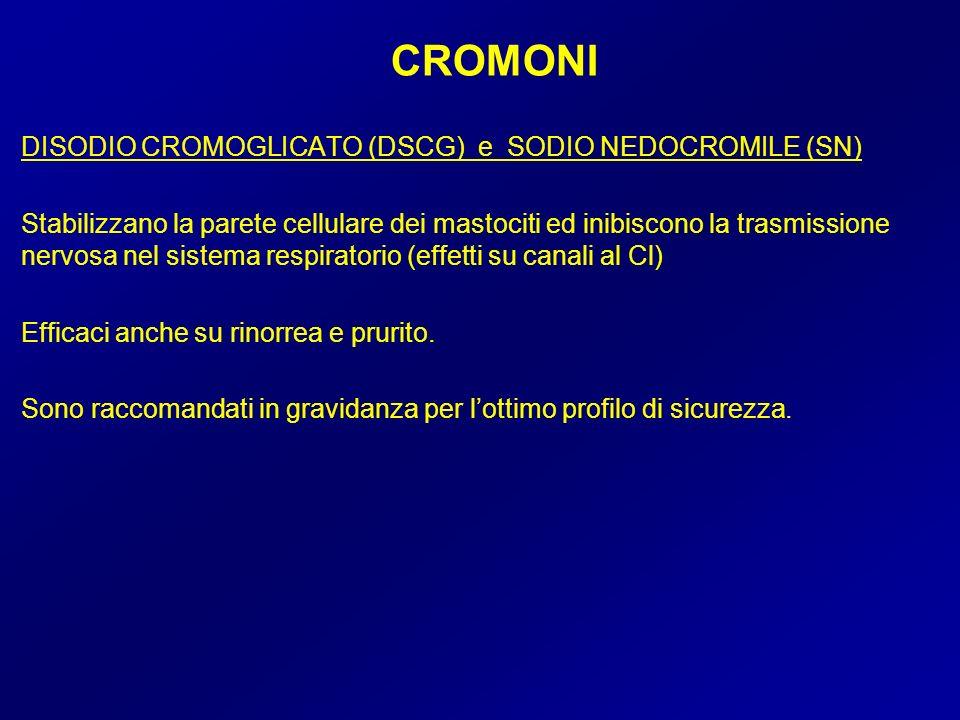 CROMONI DISODIO CROMOGLICATO (DSCG) e SODIO NEDOCROMILE (SN)