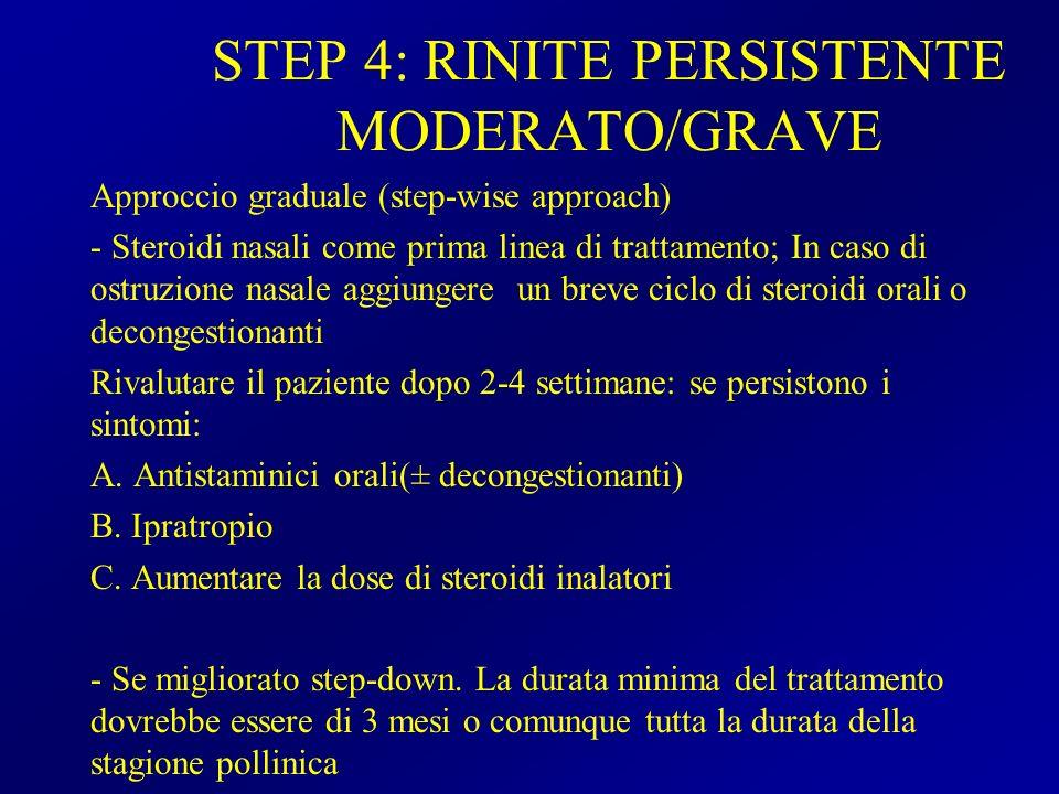 STEP 4: RINITE PERSISTENTE MODERATO/GRAVE