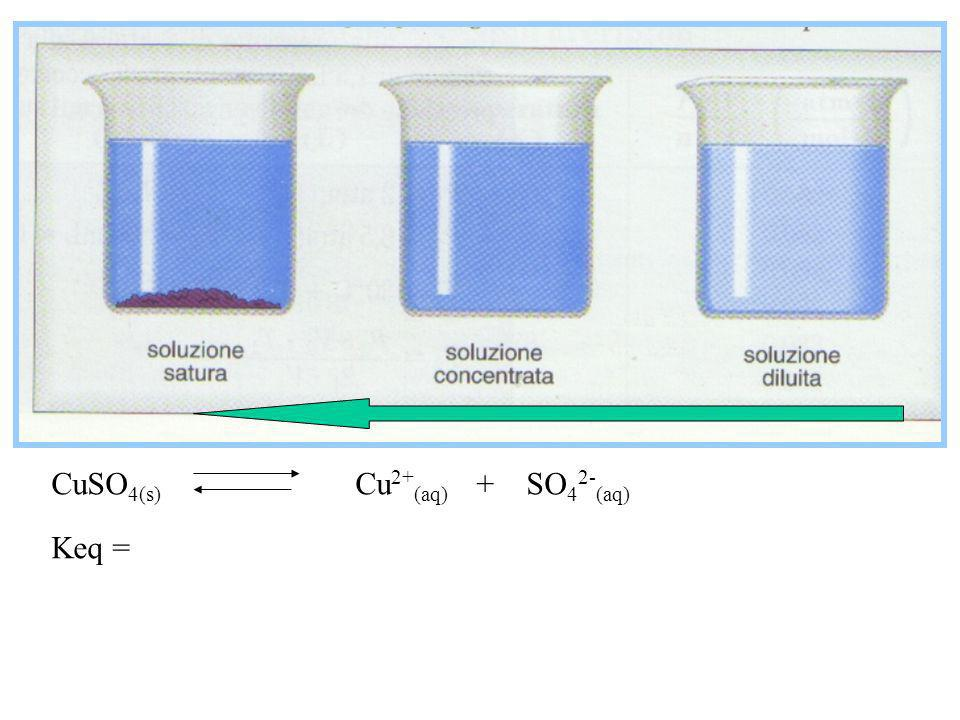 CuSO4(s) Cu2+(aq) + SO42-(aq)