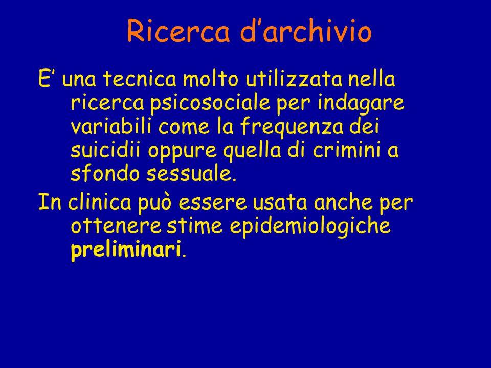 Ricerca d'archivio