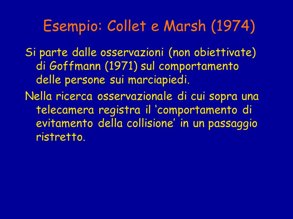 Esempio: Collet e Marsh (1974)