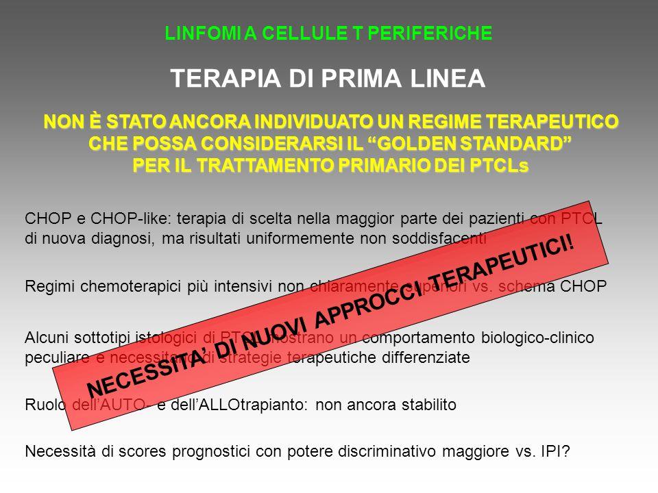 TERAPIA DI PRIMA LINEA NECESSITA' DI NUOVI APPROCCI TERAPEUTICI!