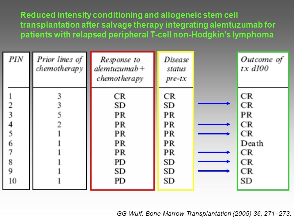 Reduced intensity conditioning and allogeneic stem cell transplantation after salvage therapy integrating alemtuzumab for patients with relapsed peripheral T-cell non-Hodgkin's lymphoma