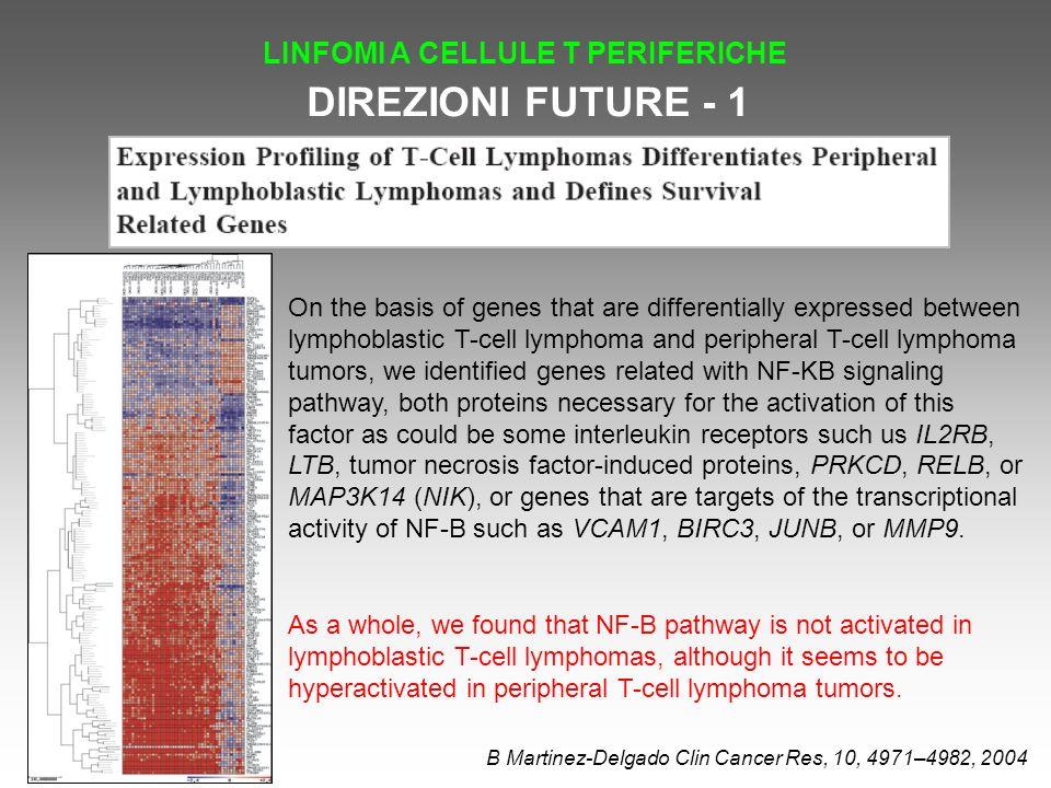 DIREZIONI FUTURE - 1 LINFOMI A CELLULE T PERIFERICHE