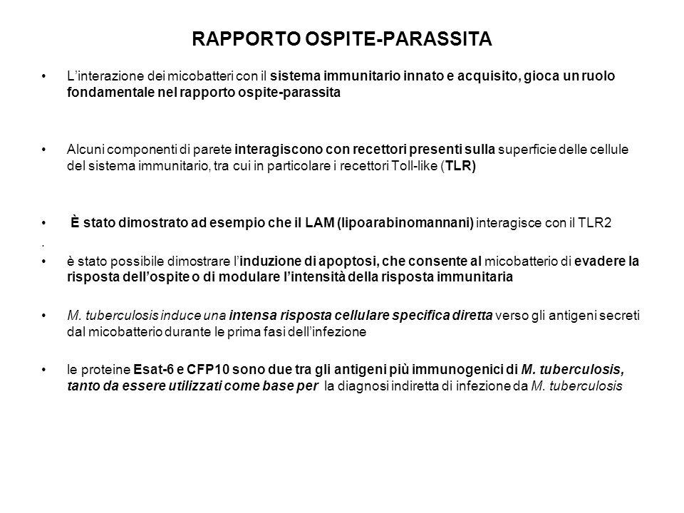 RAPPORTO OSPITE-PARASSITA