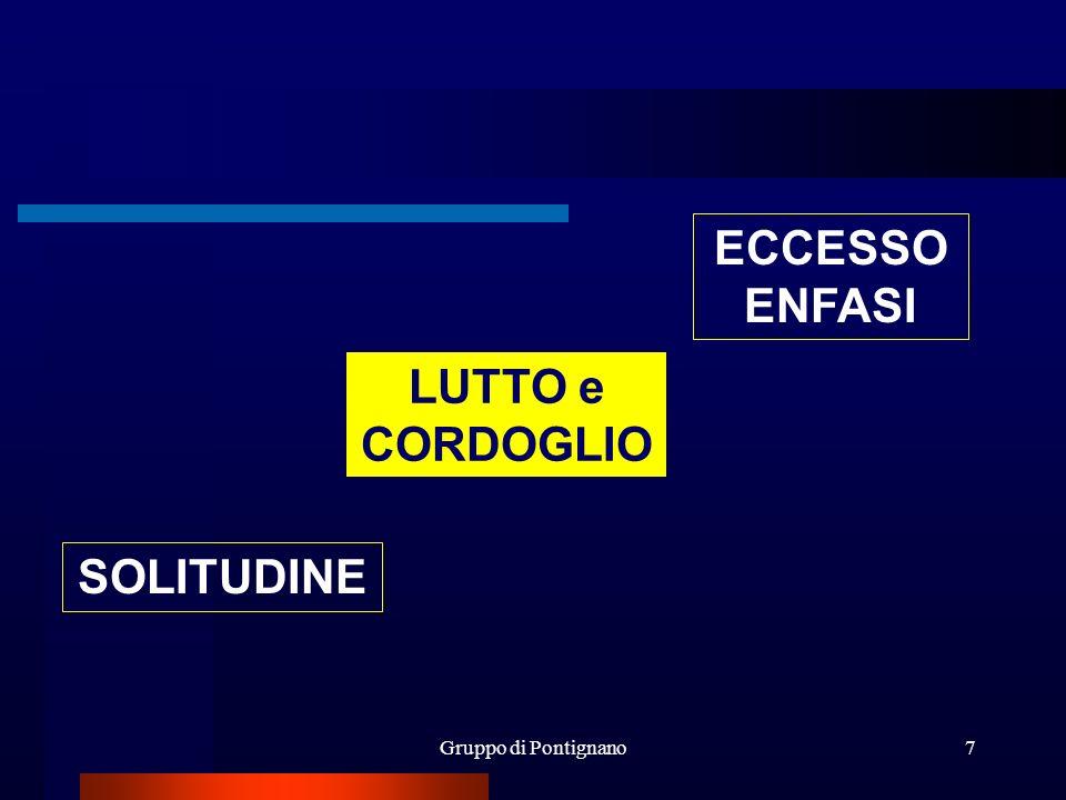 ECCESSO ENFASI LUTTO e CORDOGLIO SOLITUDINE