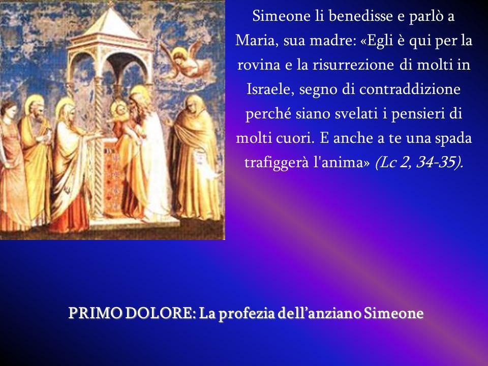PRIMO DOLORE: La profezia dell'anziano Simeone