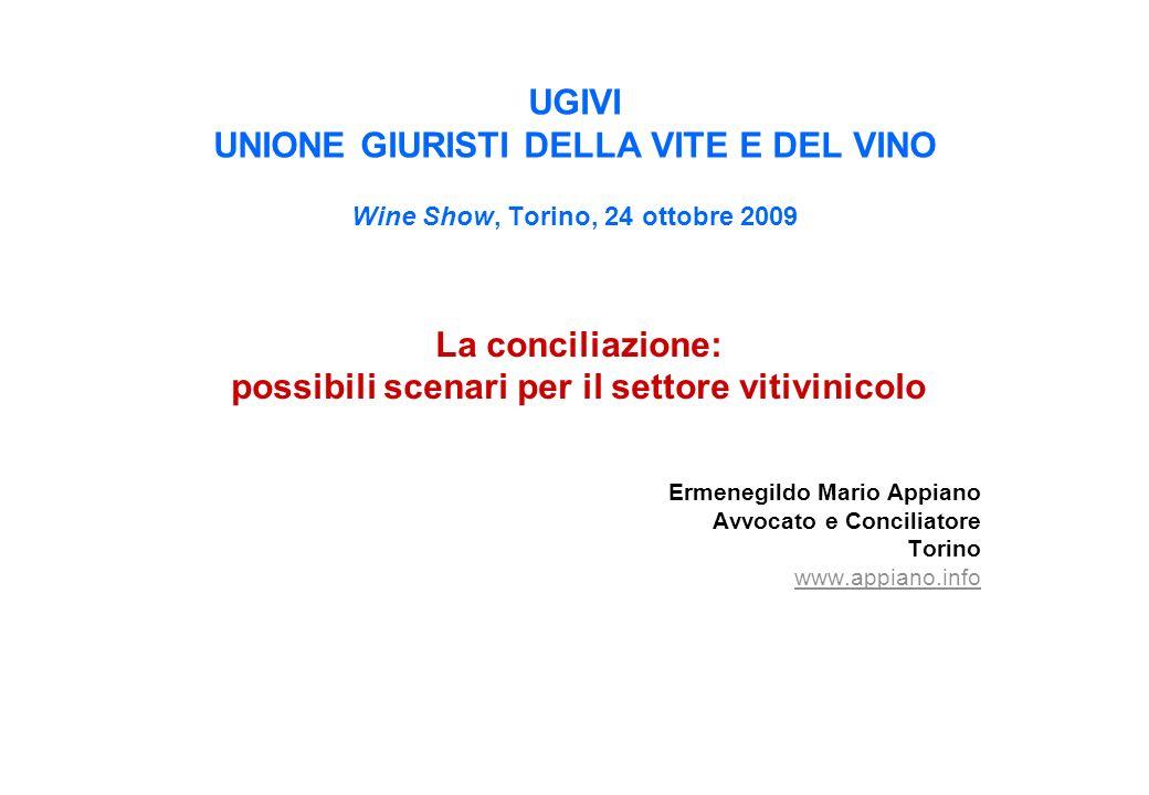 possibili scenari per il settore vitivinicolo