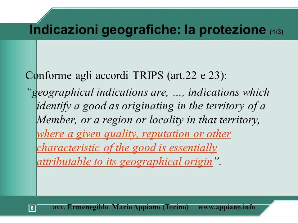 Indicazioni geografiche: la protezione (1/3)