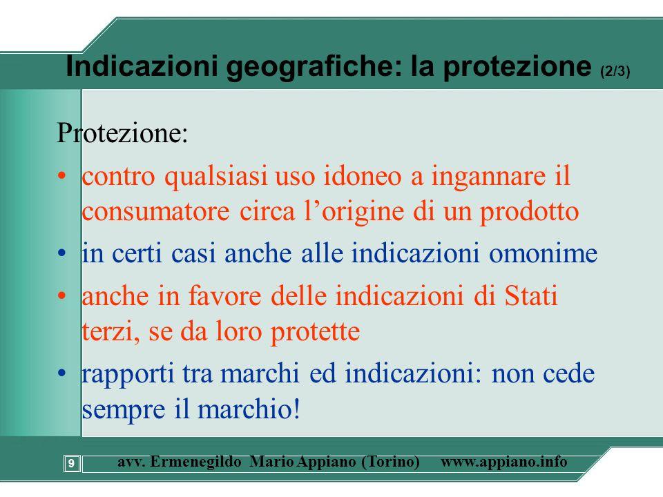Indicazioni geografiche: la protezione (2/3)