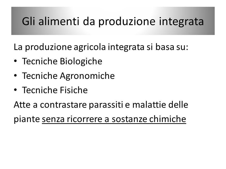 Gli alimenti da produzione integrata