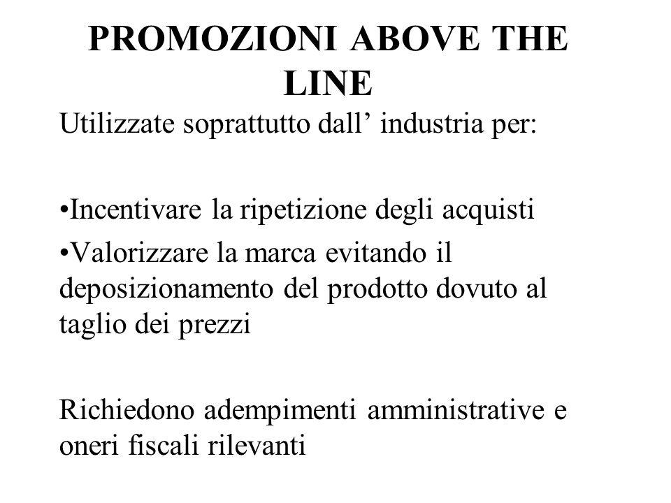 PROMOZIONI ABOVE THE LINE