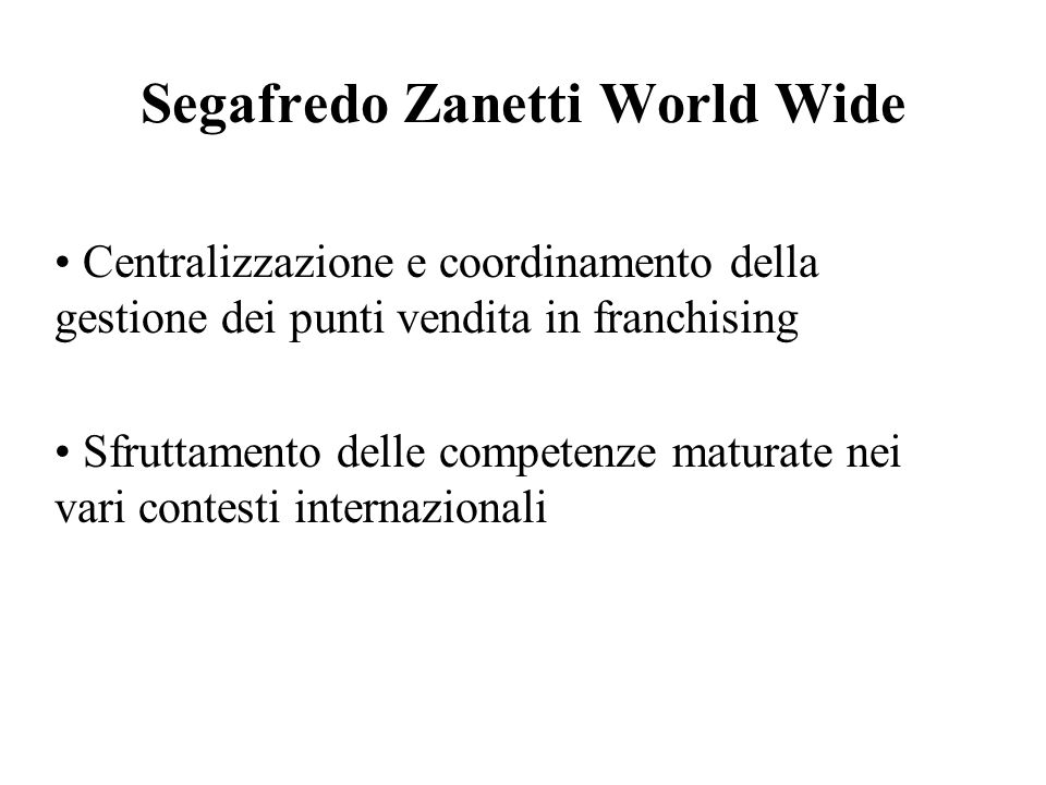 Segafredo Zanetti World Wide