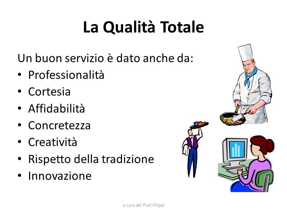 La Qualità Totale Un buon servizio è dato anche da: Professionalità