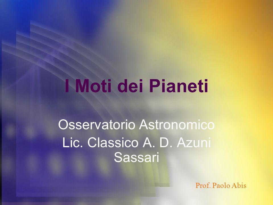 Osservatorio Astronomico Lic. Classico A. D. Azuni Sassari