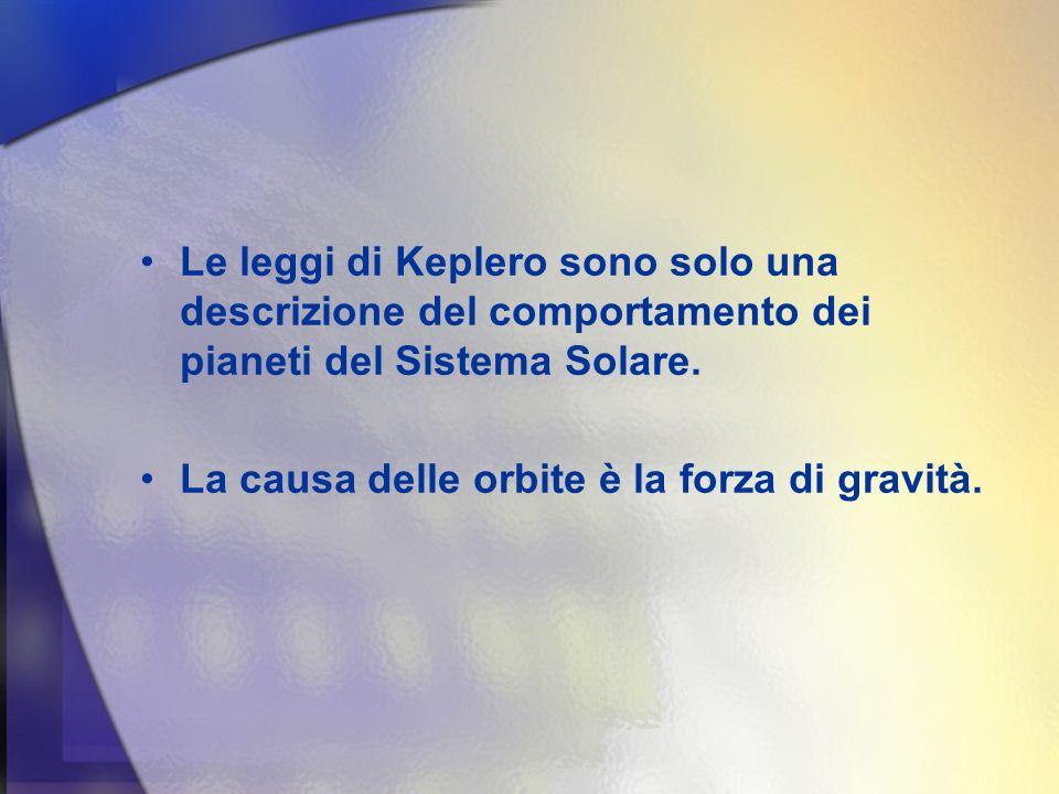 Le leggi di Keplero sono solo una descrizione del comportamento dei pianeti del Sistema Solare.