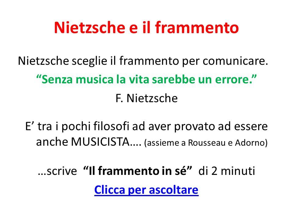Nietzsche e il frammento