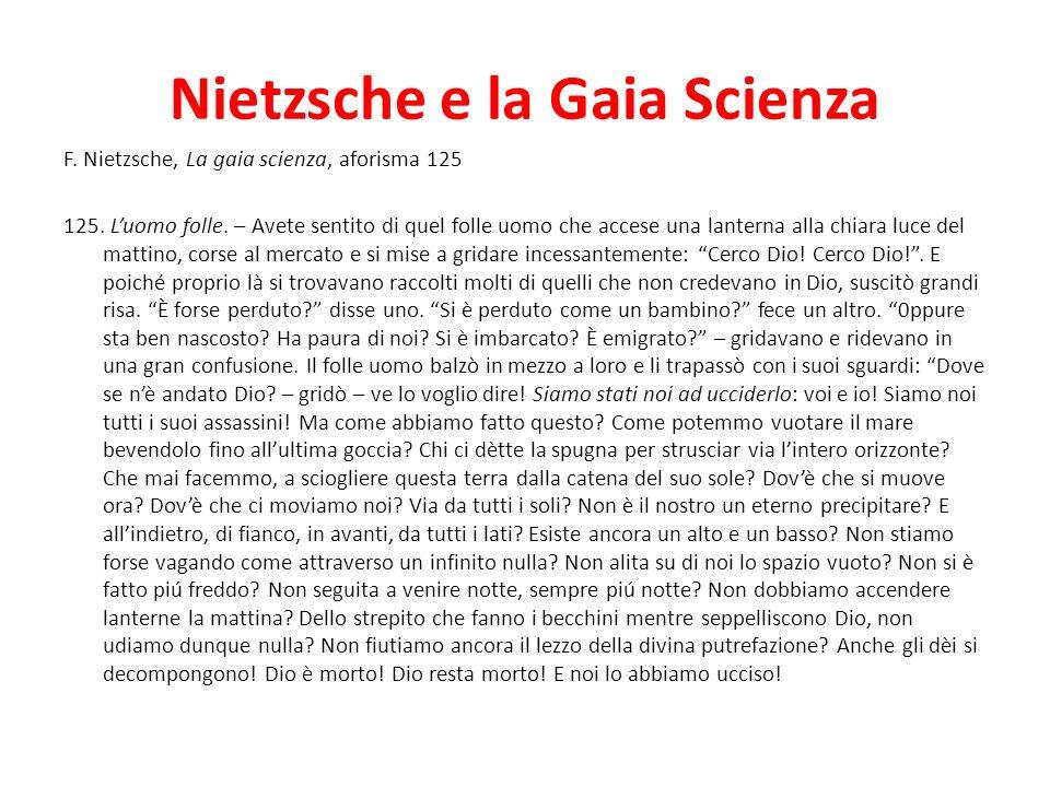 Nietzsche e la Gaia Scienza
