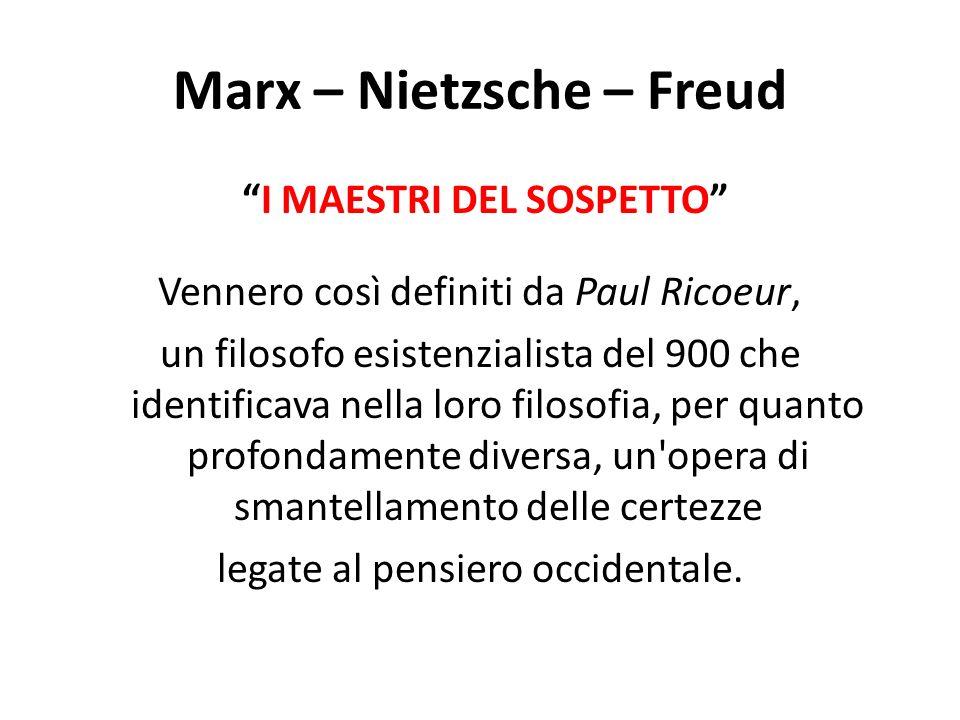 Marx – Nietzsche – Freud