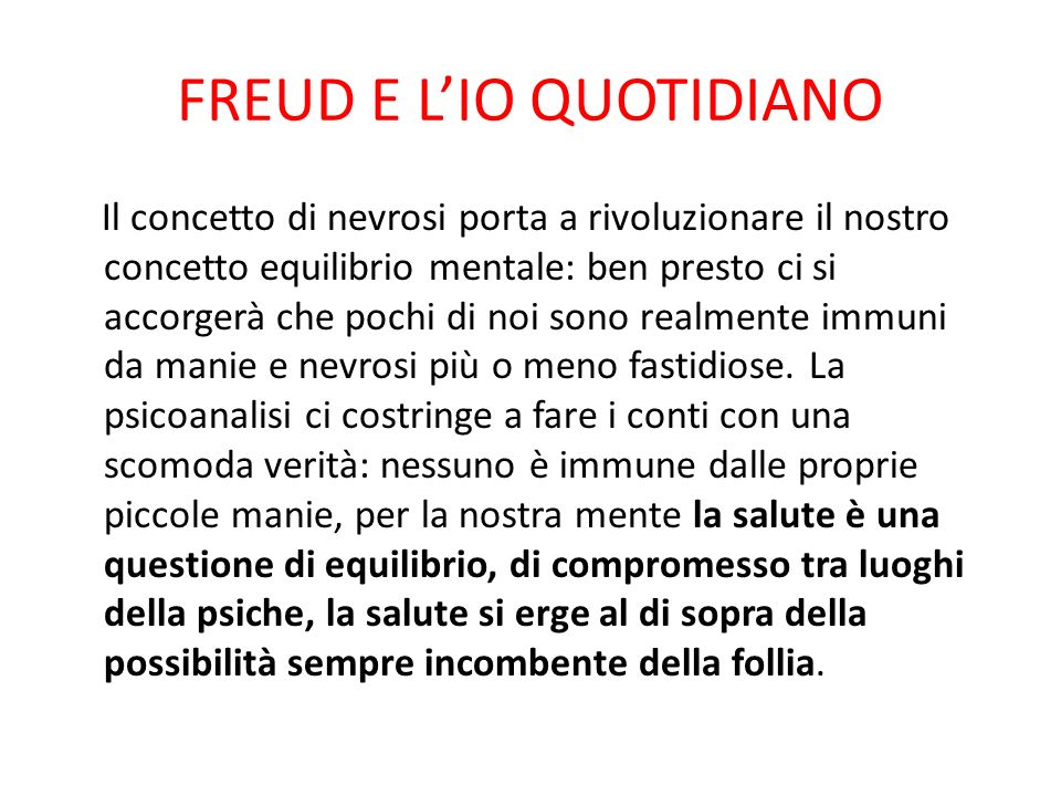FREUD E L'IO QUOTIDIANO