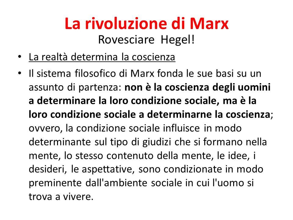 La rivoluzione di Marx Rovesciare Hegel!