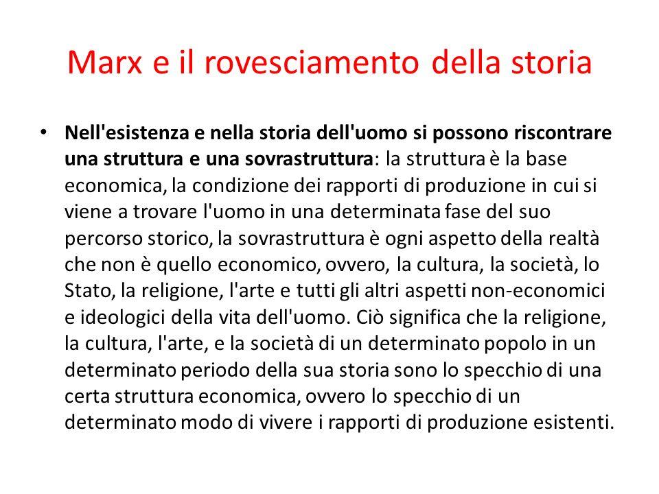Marx e il rovesciamento della storia