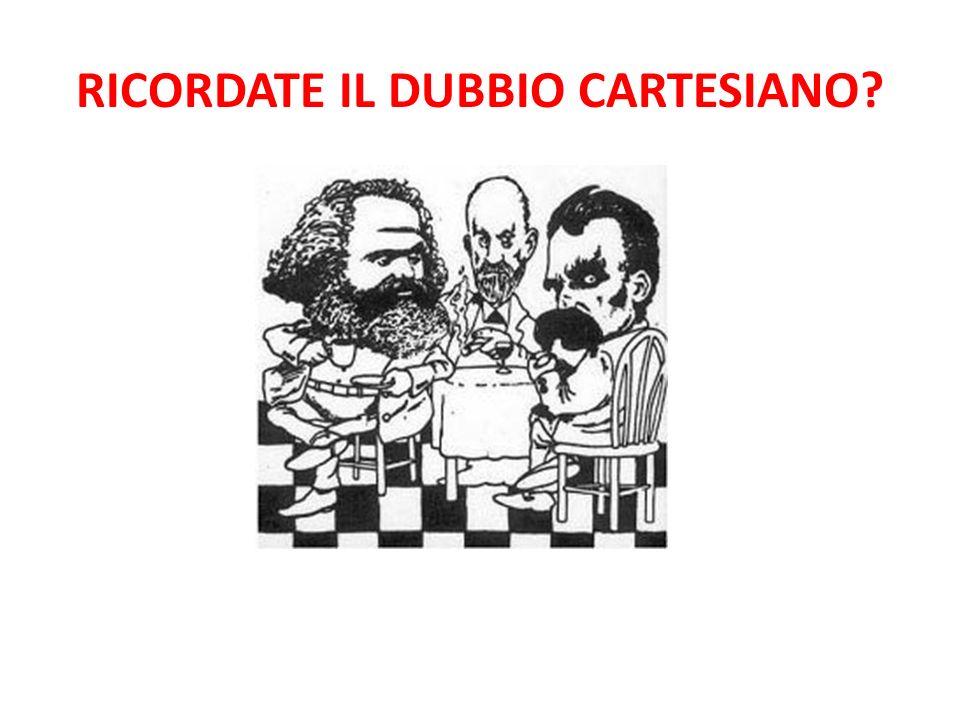RICORDATE IL DUBBIO CARTESIANO