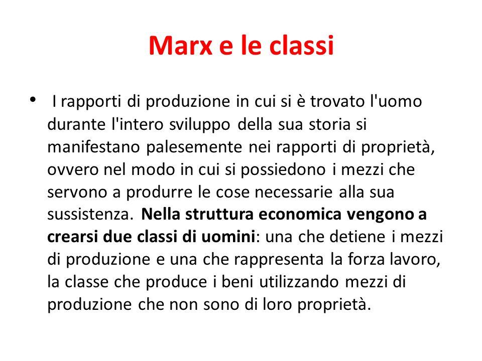 Marx e le classi